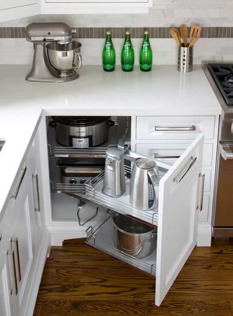 This savvy storage spot is for items you don't use on a daily basis, but when you do, require some heavy lifting — think your slow cooker or ice cream maker. See more at Jane Lockhart »