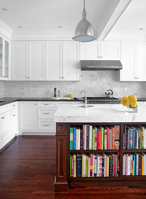 So many cookbooks, so little space — until you get this island bookcase that's basically made for your favorite kitchen reads. Not to mention the colorful binding is totally fun and cheerful. See more at Palmerston Design Consultants Inc. »