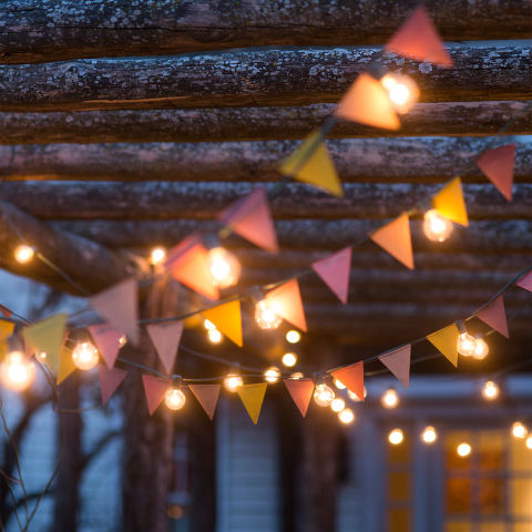 backyard string lights color