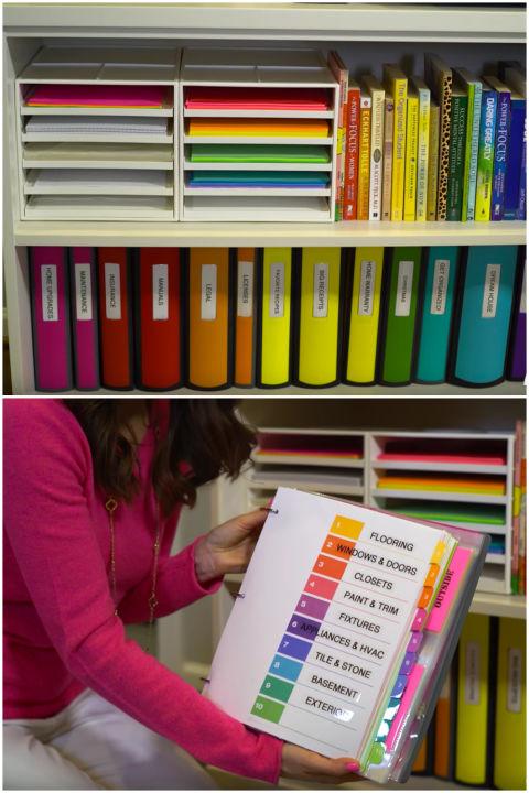 organized-binders Malas Merapikan Rumah? Ikuti 8 Tips Anti Ribet Ini Agar Kerapihan Rumahmu Selalu Terjaga