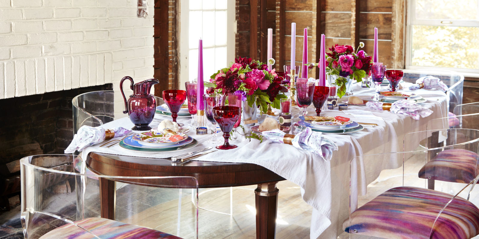 A Red And Pink Tablescape By Eddie Ross