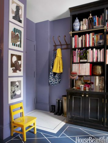 Color Forecast Pantone Spring 2014 Color Report Purple Haze Entryway Yellow Accent Chair Wall Gallery Library Hanging Coat Rack