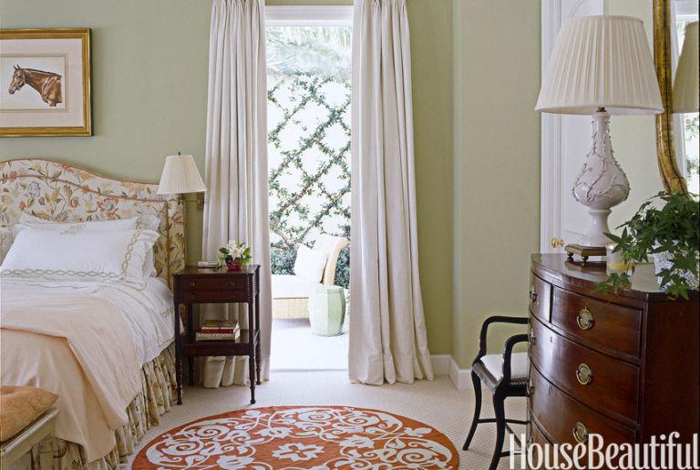 Sage green bedroom color palette. green room decorating ideas ...