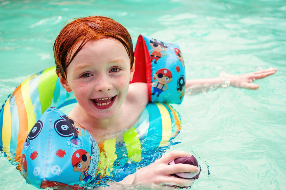 """Plastic pool toys, floaties, or rafts need to be cleaned too. Use vinegar applied to a paper towel to wipe them down. It disinfects and you don't have to worry about harsh chemicals touching you or your child's skin,"" says Kerr."