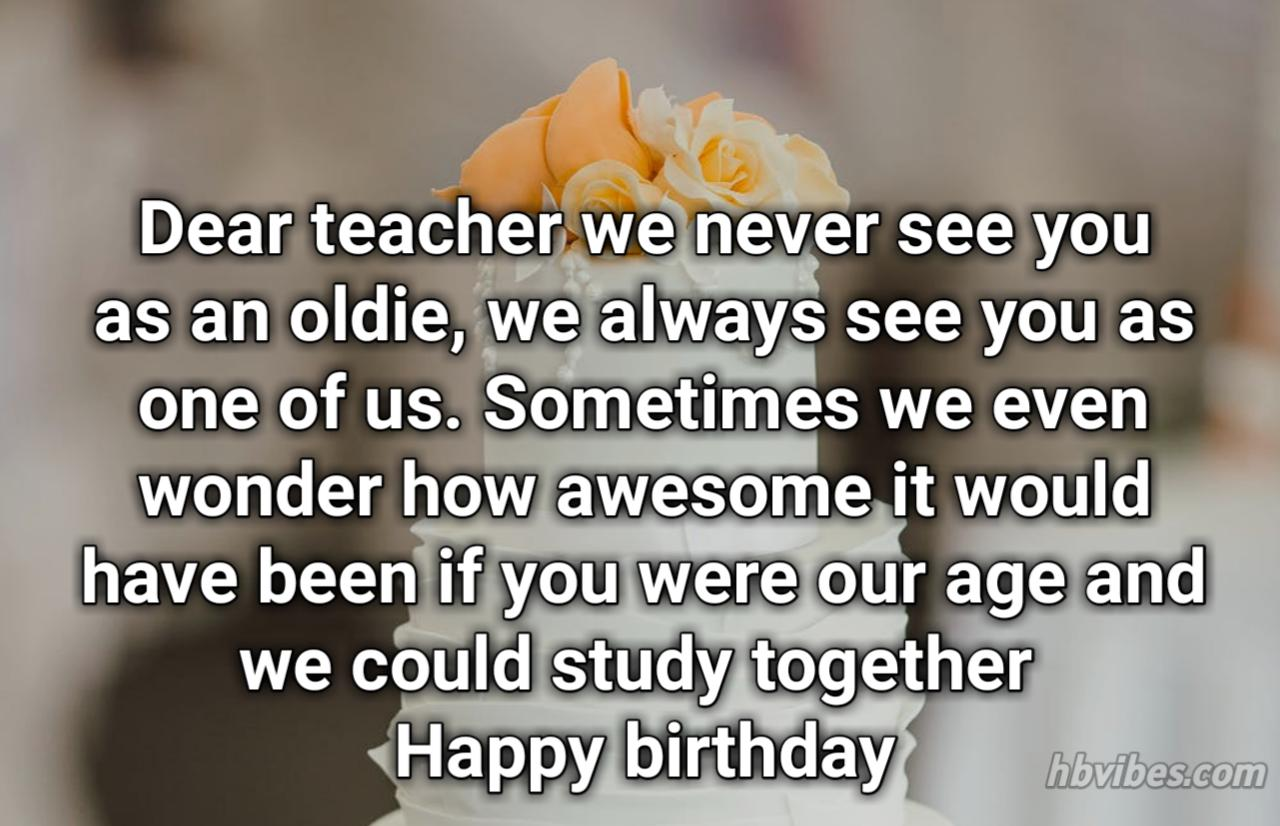 Best Birthday Wishes For Teacher Greetings Sms Hbvibes