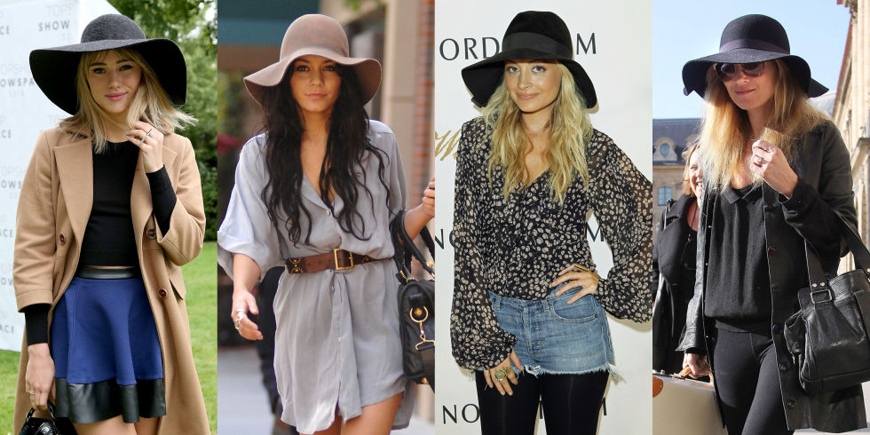 Every fashion girl knows the '70s are back in a big way, and that means a bohemian floppy-brimmed hat is a must.