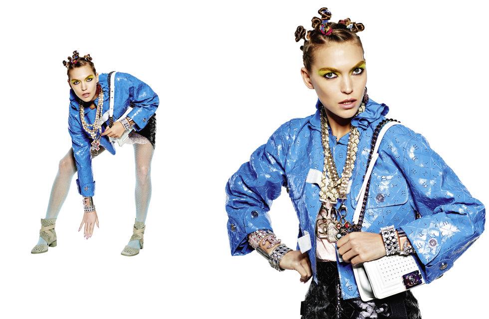 Model:Arizona Muse Photographer: Karl Lagerfeld