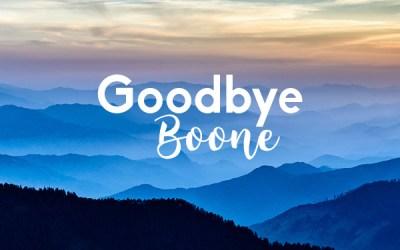 Goodbye Boone