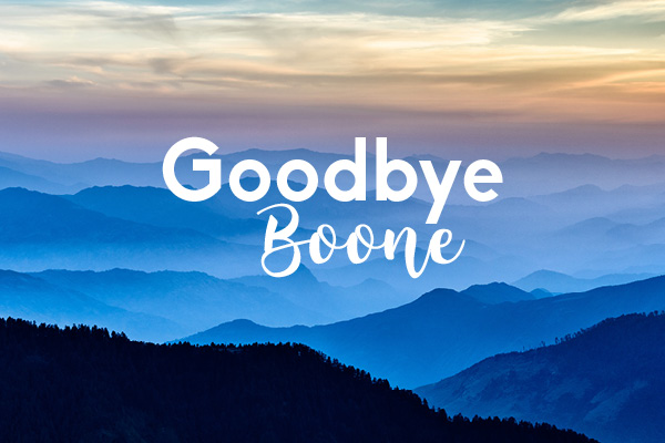 Goodbye Boone