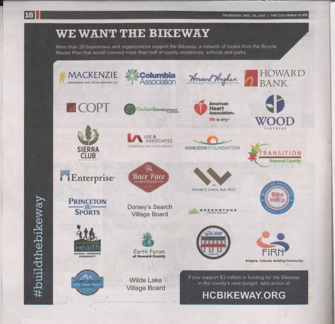 Bikeway logos ad newsprint scan