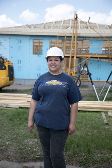 Christina Terrazas looks forward to the completion of the new home for her family.