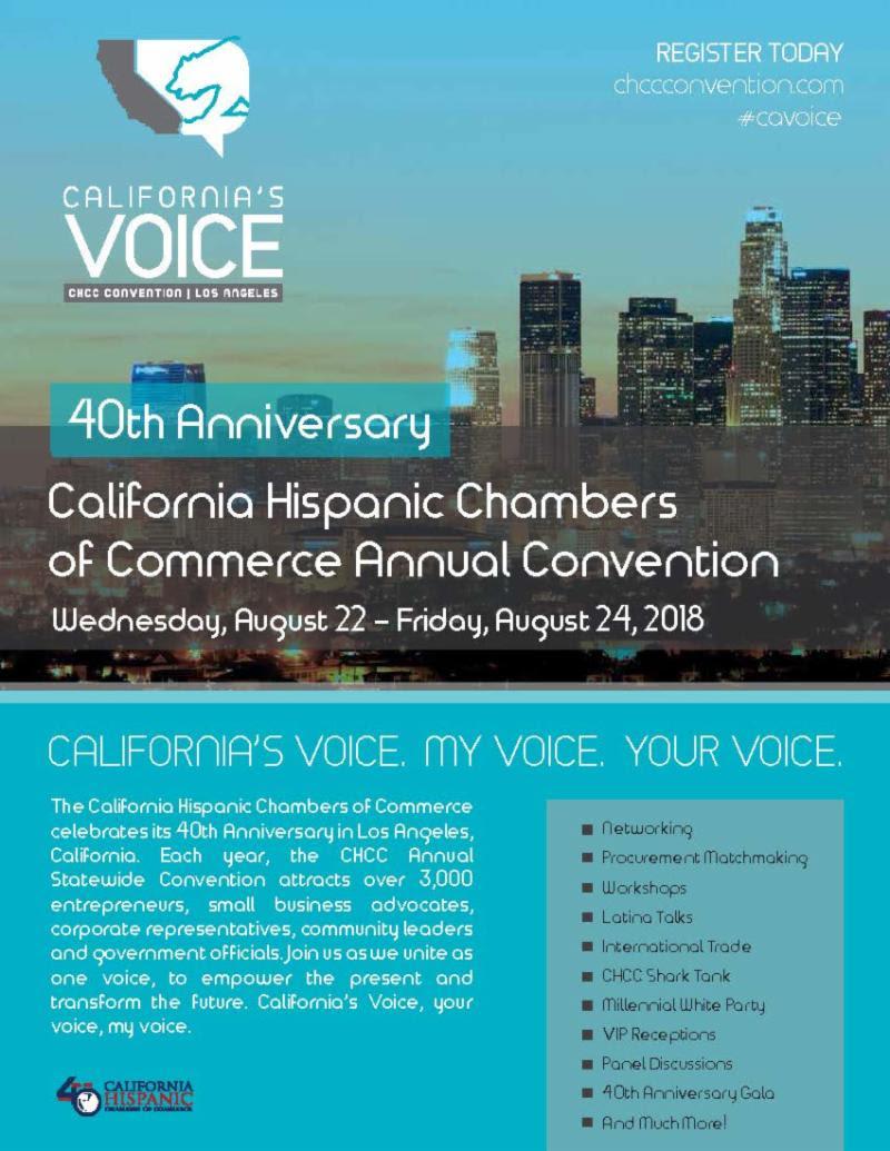 California Hispanic Chamber of Commerce 2018 Convention