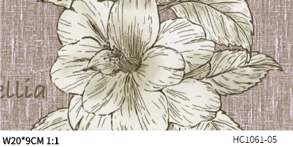 DIGI-PRINT CUSHION-HC1061 vintage garden