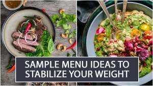 Sample Menu Ideas to Stabilize your Weight