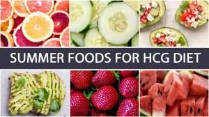 Summer Foods for HCG Diet