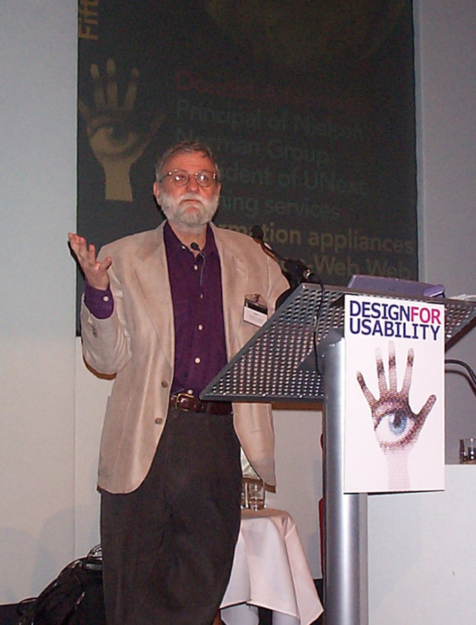 Norman at Nielsen's Lecture Tour in March 2000.