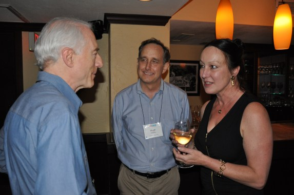 Mountford with Larry Tesler (left) and Hugh Dubberly (center) at the ACM CHI Conference on Human Factors in Computing Systems in Austin, TX in May 2012.