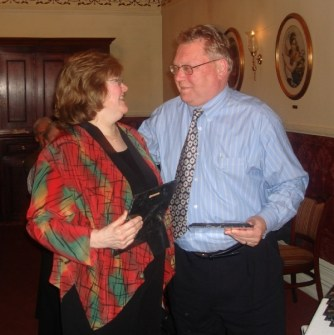 Judy and Gary Olson at the ACM CHI Conference on Human Factors in Computing Systems in Quebec, Canada in April 2006.