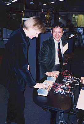 Hiroshi Ishii and Roz Picard at the MIT Media Lab in 1998.