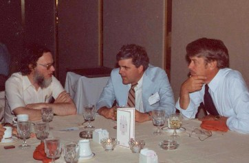 Lewis with Reuven Brooks (left) at the first Empirical Studies of Programmers (ESP) Workshop in Arlington, VA in June 1986.
