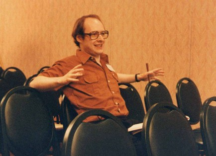 Nielsen at the HCI International Conference in Honolulu, HI in August 1987.