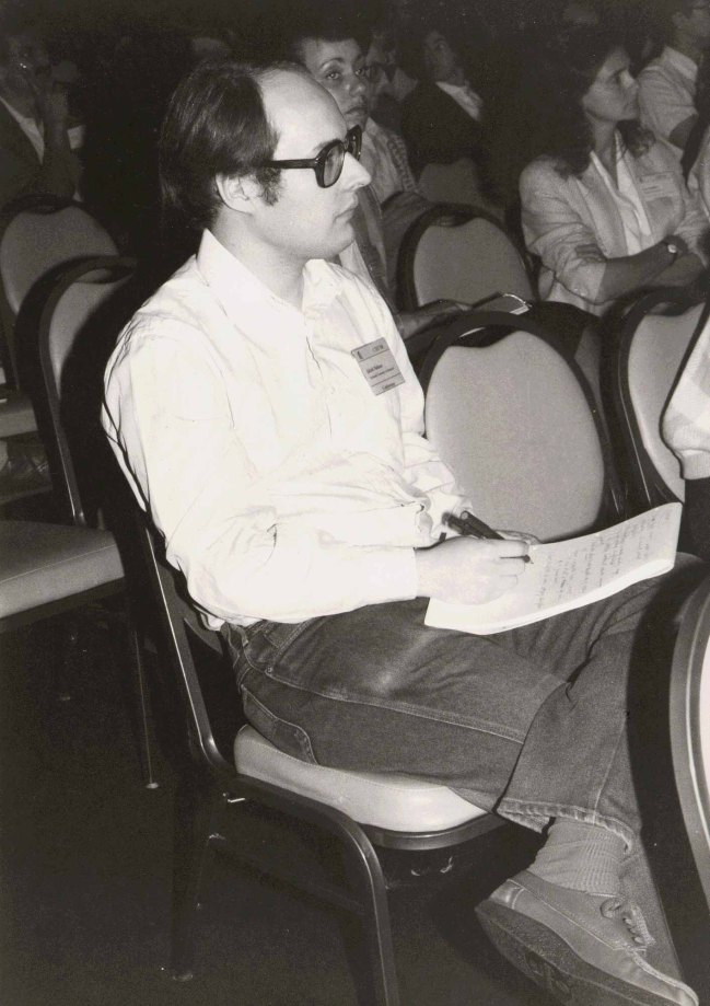 Nielsen at the ACM CHI Conference on Human Factors in Computing Systems in Boston, MA in April 1986.