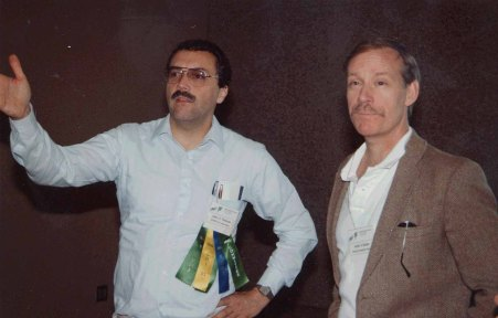 Thomas with Keith Butler at the ACM CHI Conference on Human Factors in Computing Systems on June 12, 1990 in Seattle, WA.