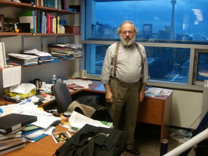 Baecker in his office at the University of Toronto in Canada in October 2006.