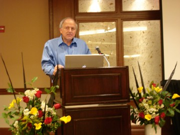 Fischer speaking at the Creativity and Cognition Conference in Washington, DC on June 14, 2007.