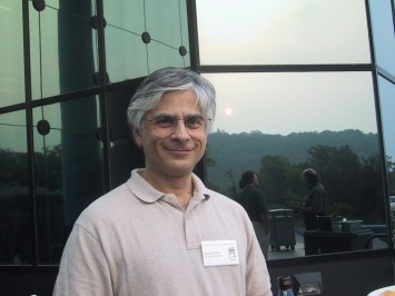 Steven Feiner at the Smartgraphics Conference in Hawthorne, NY on June 11, 2002.