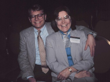Gary and Judy Olson at the ACM CHI Conference on Human Factors in Computing Systems in Toronto, Canada in April 1987.