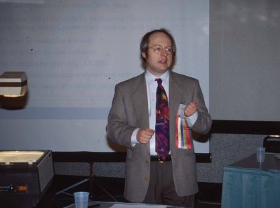 Nielsen presents at the ACM CHI Conference on Human Factors in Computing Systems in Denver, CO in May 1995.