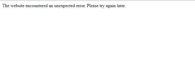 The website encountered an unexpected error. Please try again later. Drupal
