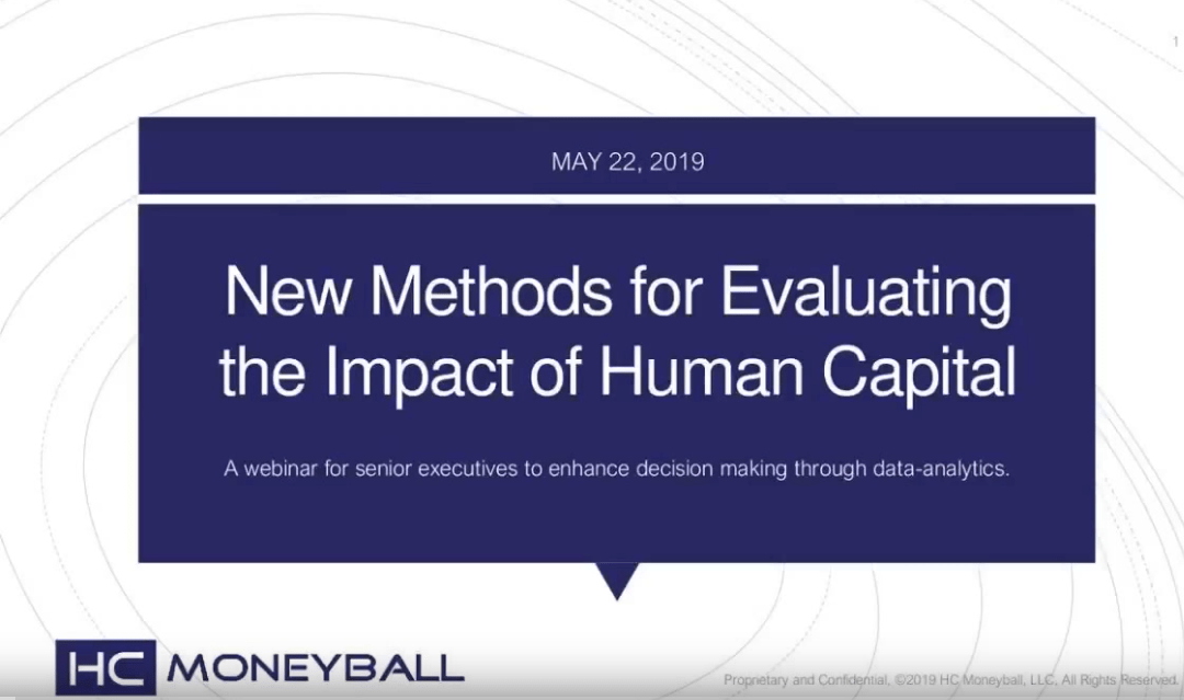 Webinar: New Methods for Evaluating the Impact of Human Capital