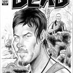 Daryl Dixon Chupacabra Walking Dead Sketch Cover