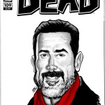 Negan Walking Dead Sketch Cover