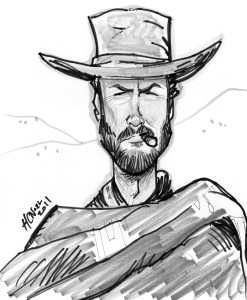 custom caricature sample clint eastwood