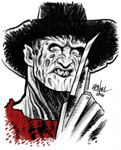 custom caricature sample freddie krueger