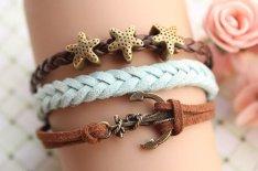3. Brown cord bracelets
