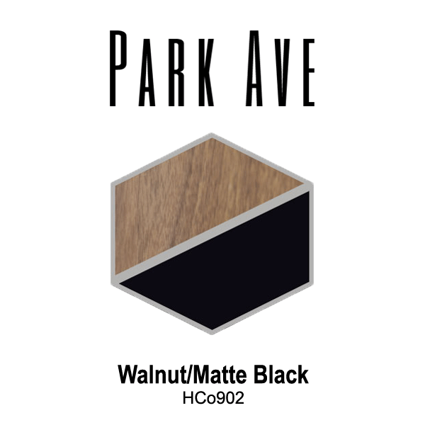Park Ave Walnut Matte Black