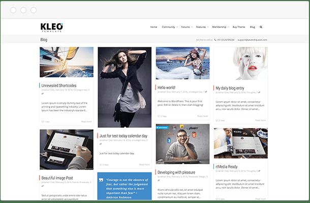 Kleo blog page