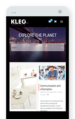 Image of Kleo being used on a smart phone