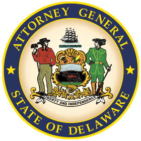 Attorney General State of Delaware logo