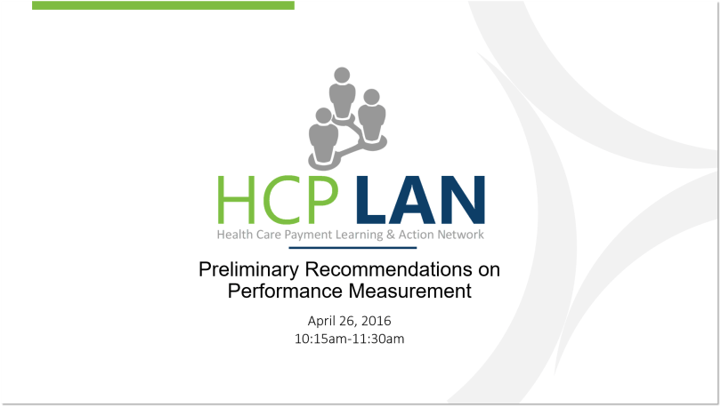 Preliminary Recommendations on Performance Measurement slide