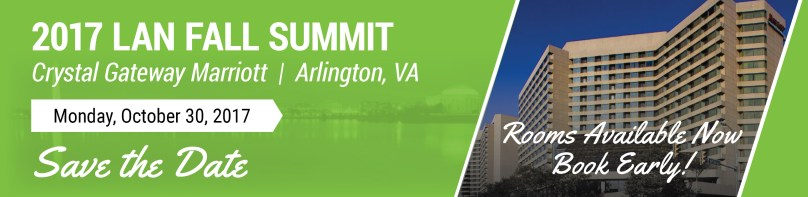 Book your room for the 2017 LAN Summit - October 30, 2017, Crystal Gateway Marriott