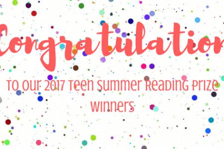 2017 Teen Summer Reading Club Prize Winners