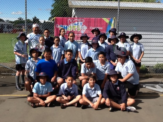 We enjoyed our tennis lessons with Hot Shots Tennis.