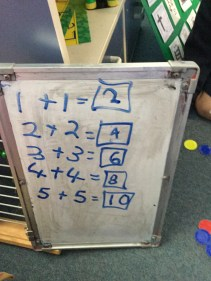 Recording our addition problems