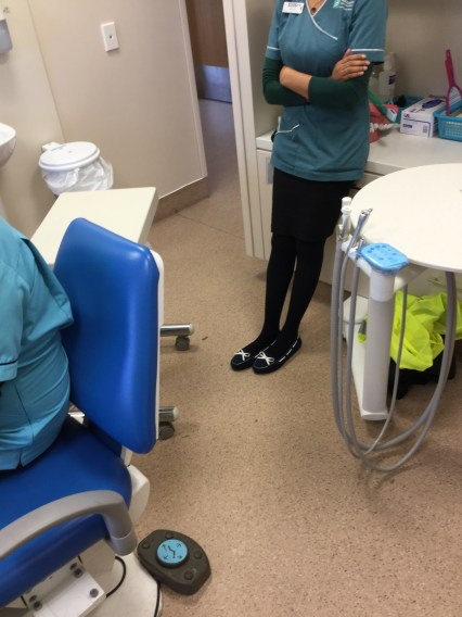 The therapists were amazed at how much we knew about healthy teeth