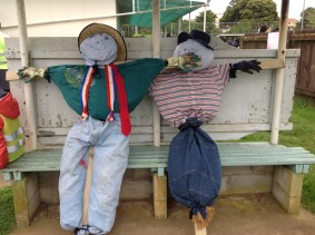 Our beautiful scarecrows